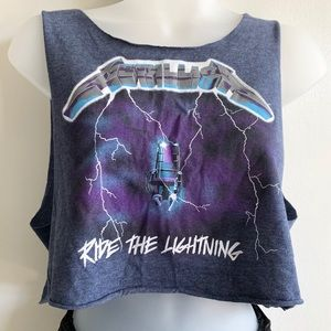 Metallica Ride the Lightning Crop Top